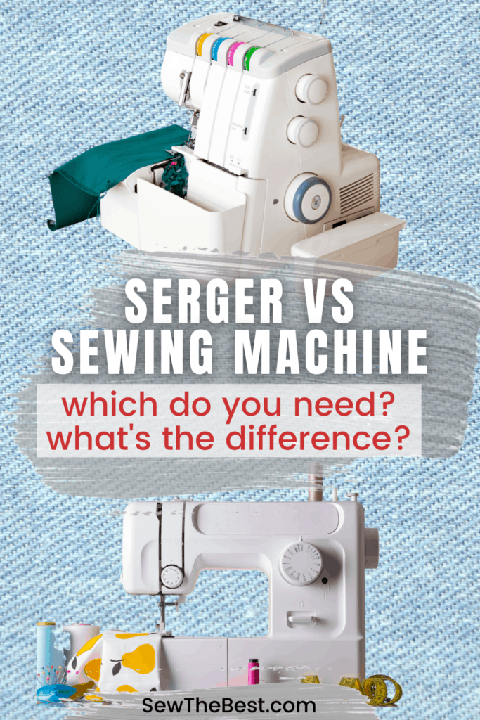 Serger vs Sewing Machine. Which do you need? What's the difference? Whats a serger? What is a serger machine? What is serging? #AD #Sewing