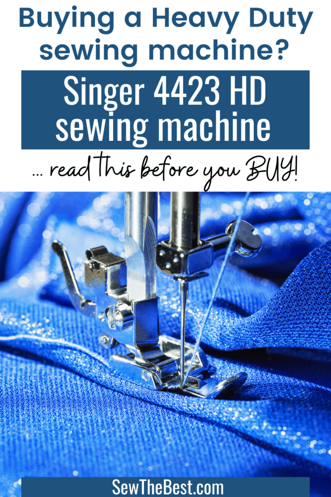 Buying a heavy duty sewing machine? Read this Singer 4423 review before you buy! Is this the right sewing machine for you? Singer sewing machine 4423, heavy duty singer sewing machine, review singer heavy duty 4432, sewing machine reviews singer 4423 #AD #Sewing #SewingMachine